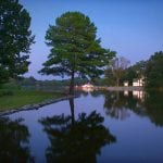 The Oaks Waterfront Inn & Events Maryland Wedding Venues view at dusk
