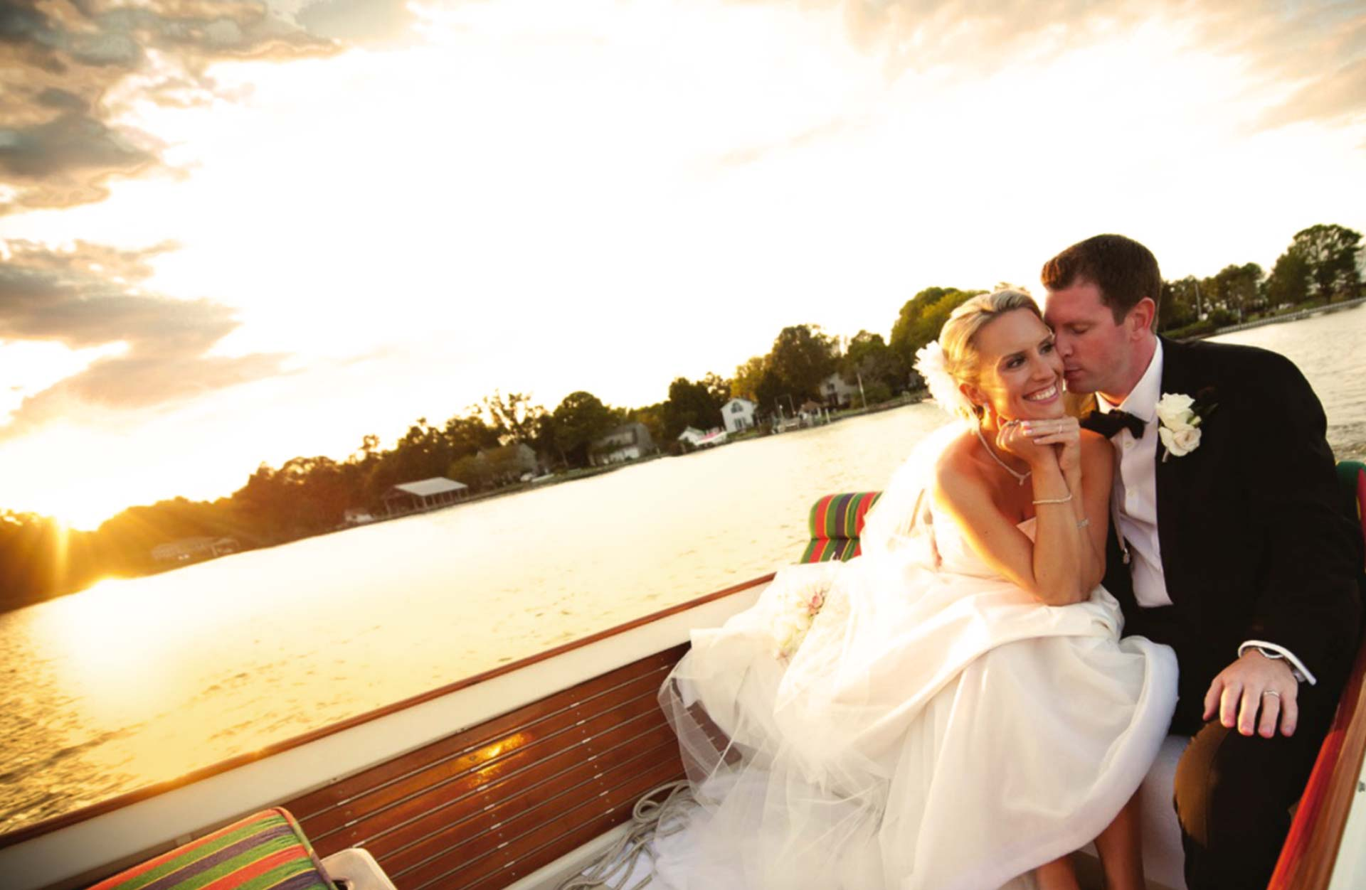 The Oaks Waterfront Inn & Events Maryland Wedding Venues waterfront wedding boat tour