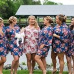 The Oaks Waterfront Inn & Events Maryland Wedding Venues floral print dress ideas