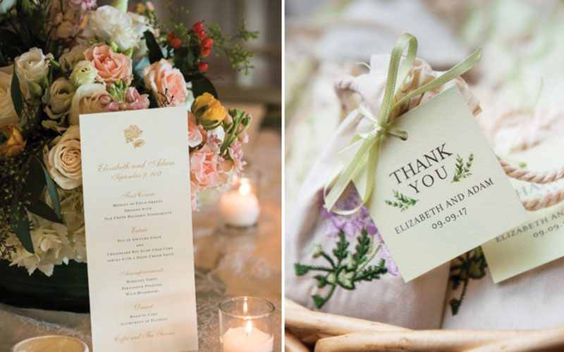 The Oaks Waterfront Inn & Events Maryland Wedding Venues thank you notes and wedding invitations