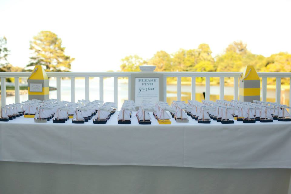The Oaks Waterfront Inn & Events Maryland Wedding Venues naval themed wedding favors for waterfront wedding