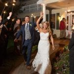 The Oaks Waterfront Inn & Events Maryland Wedding Venues fireworks wedding celebration