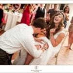 The Oaks Waterfront Inn & Events Maryland Wedding Venues lively reception for a bohemian wedding