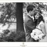 The Oaks Waterfront Inn & Events Maryland Wedding Venues private moment for bride and groom at a bohemian wedding