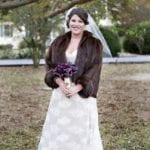 The Oaks Waterfront Inn & Events Maryland Wedding Venues winter wedding with bride in mink and veil