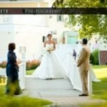 The Oaks Waterfront Inn & Events Maryland Wedding Venues bride with parents