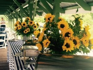sunflowers at nautical wedding