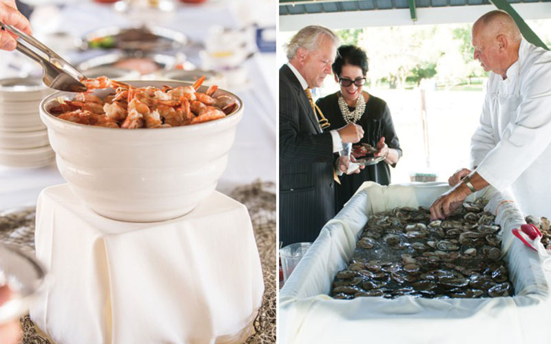 The Oaks Waterfront Inn & Events Maryland Wedding Venues shrimp and oysters wedding catering