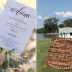 The Oaks Waterfront Inn & Events Maryland Wedding Venues wedding invitation for outdoor waterfront wedding