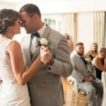 The Oaks Waterfront Inn & Events Maryland Wedding Venues first dance for newlywed couple
