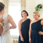 The Oaks Waterfront Inn & Events Maryland Wedding Venues wedding dress fitting
