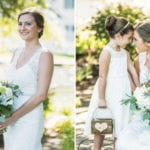 The Oaks Waterfront Inn & Events Maryland Wedding Venues bride with flower girl