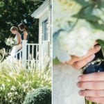 The Oaks Waterfront Inn & Events Maryland Wedding Venues bride walks with bridesmaid